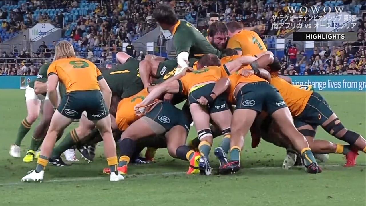 【ラグビーハイライト】南アフリカ vs オーストラリア 第3節/ザ・ラグビーチャンピオンシップ2021