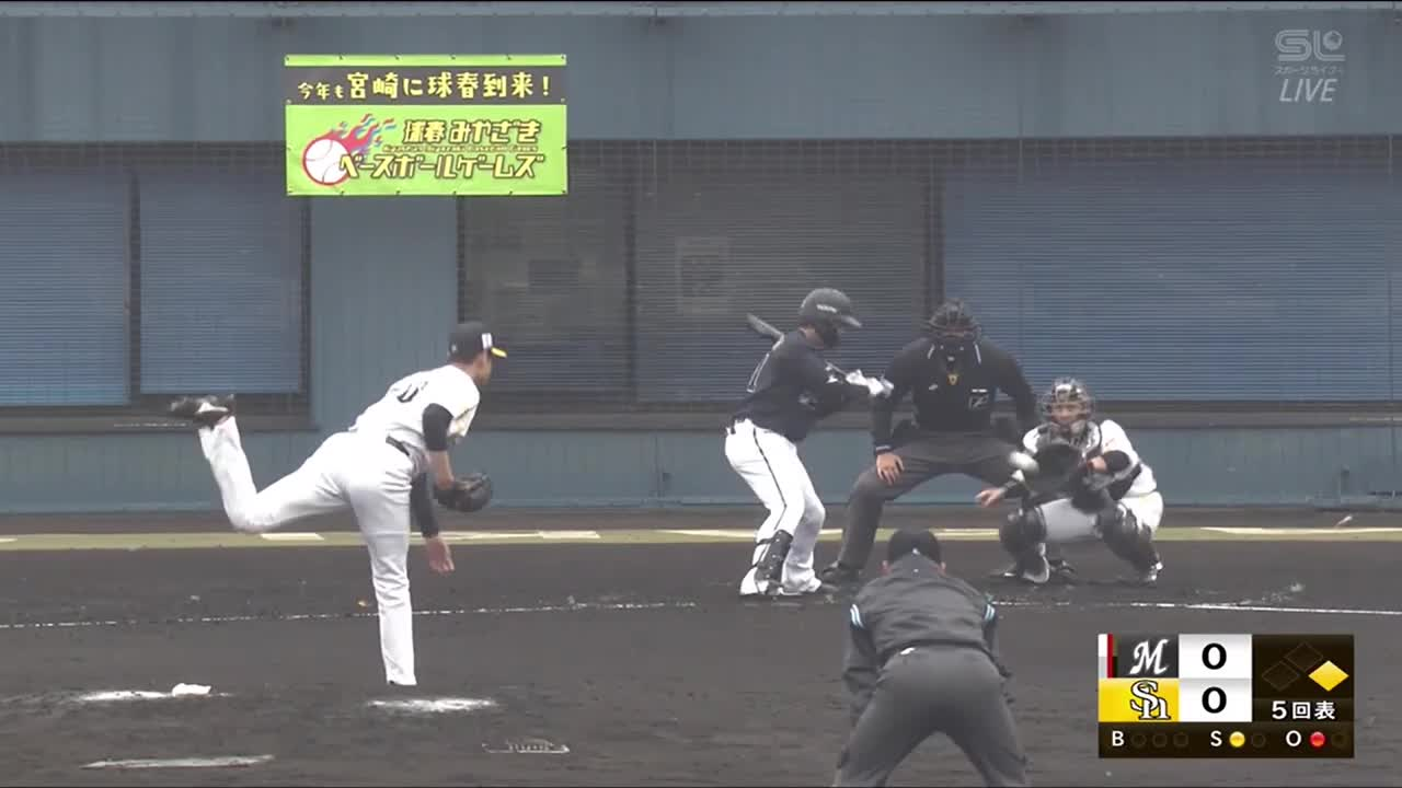 【球春みやざきベースボールゲームズ/ロッテ戦】甲斐キャノンPart.2 超速の1塁牽制