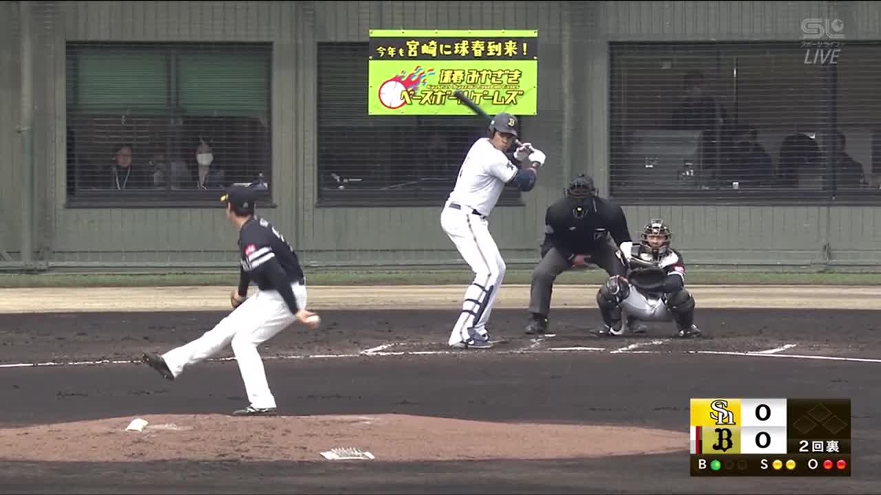 【ホークス練習試合/オリックス戦】ベテラン和田は順調! 低め直球で空振り三振