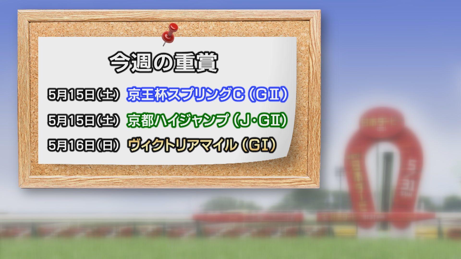 【今週の重賞インフォメーション】京王杯スプリングC 5/15(土)