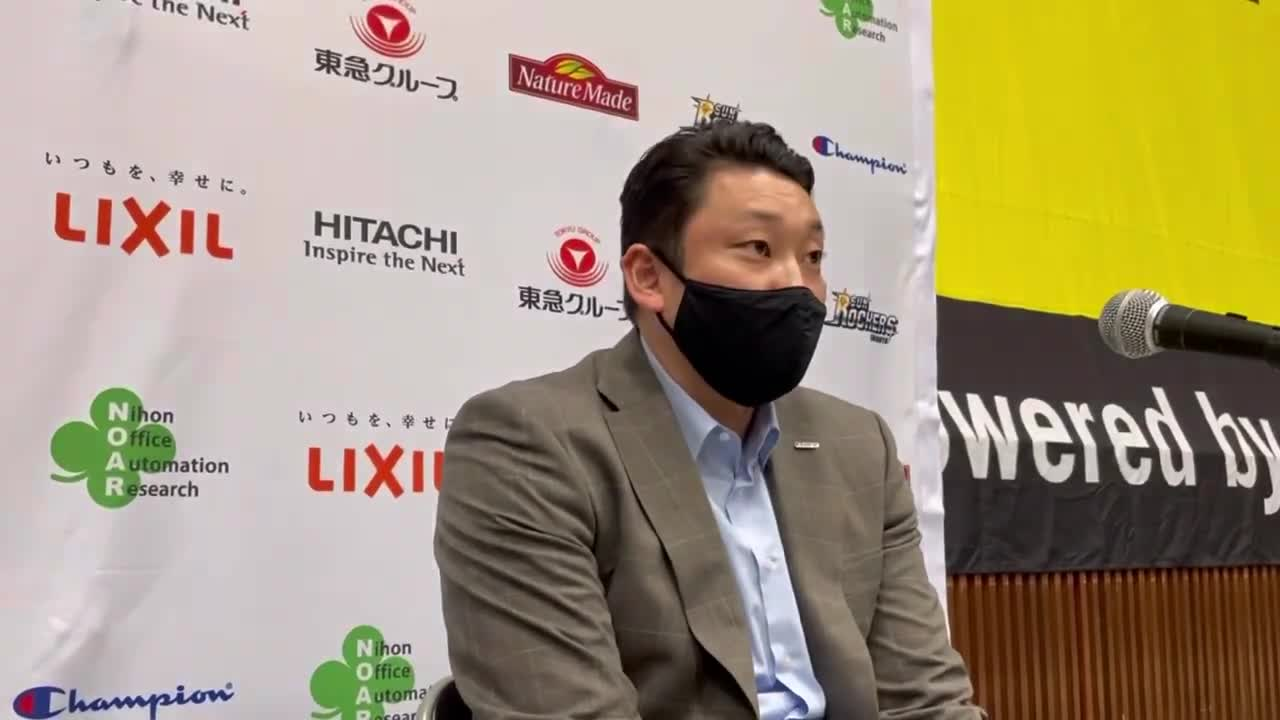 【宇都宮ブレックス】2021年10月23日(土) SR渋谷戦 安齋HC 試合後会見