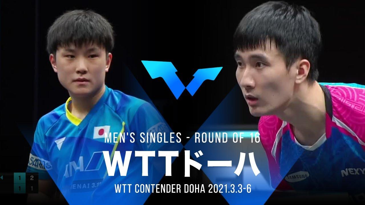 【ダイジェスト】張本智和 vs イサンス|WTT コンテンダー ドーハ 男子シングルス2回戦