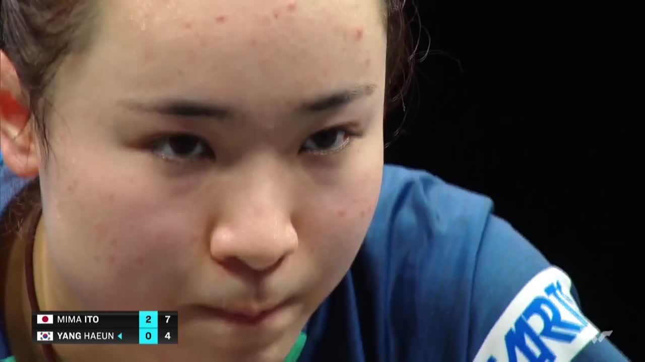 【ハイライト】伊藤美誠 vs ヤンハウン|WTT コンテンダー ドーハ 女子シングルス準々決勝