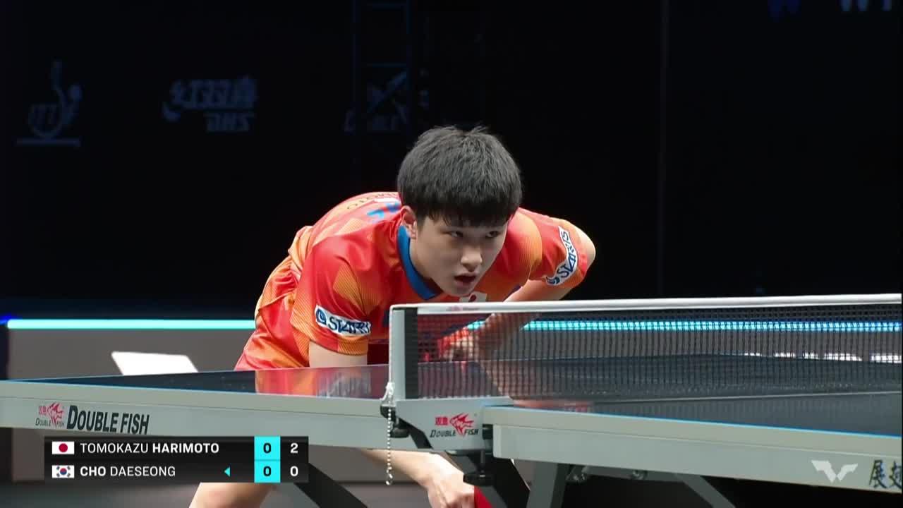【ハイライト】張本智和 vs チョデソン|WTT コンテンダー ドーハ 男子シングルス準々決勝