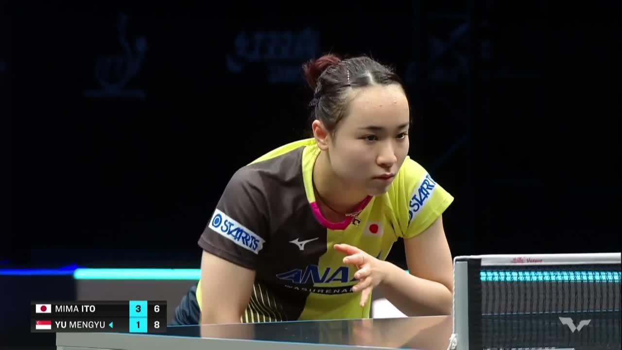 【ハイライト】伊藤美誠 vs ユー・モンユー|WTT コンテンダー ドーハ 女子シングルス準決勝