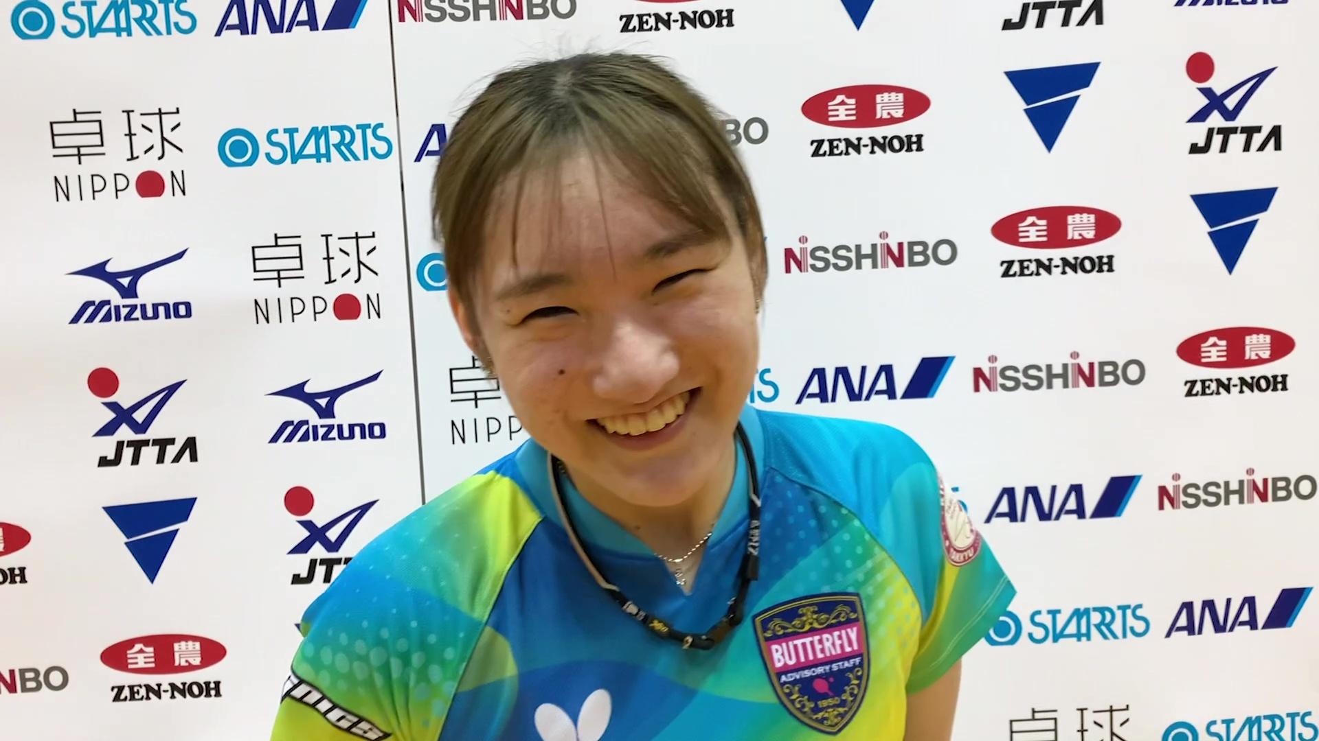 加藤美優 女子1日目インタビュー|アジア卓球選手権ドーハ大会 日本代表選考合宿