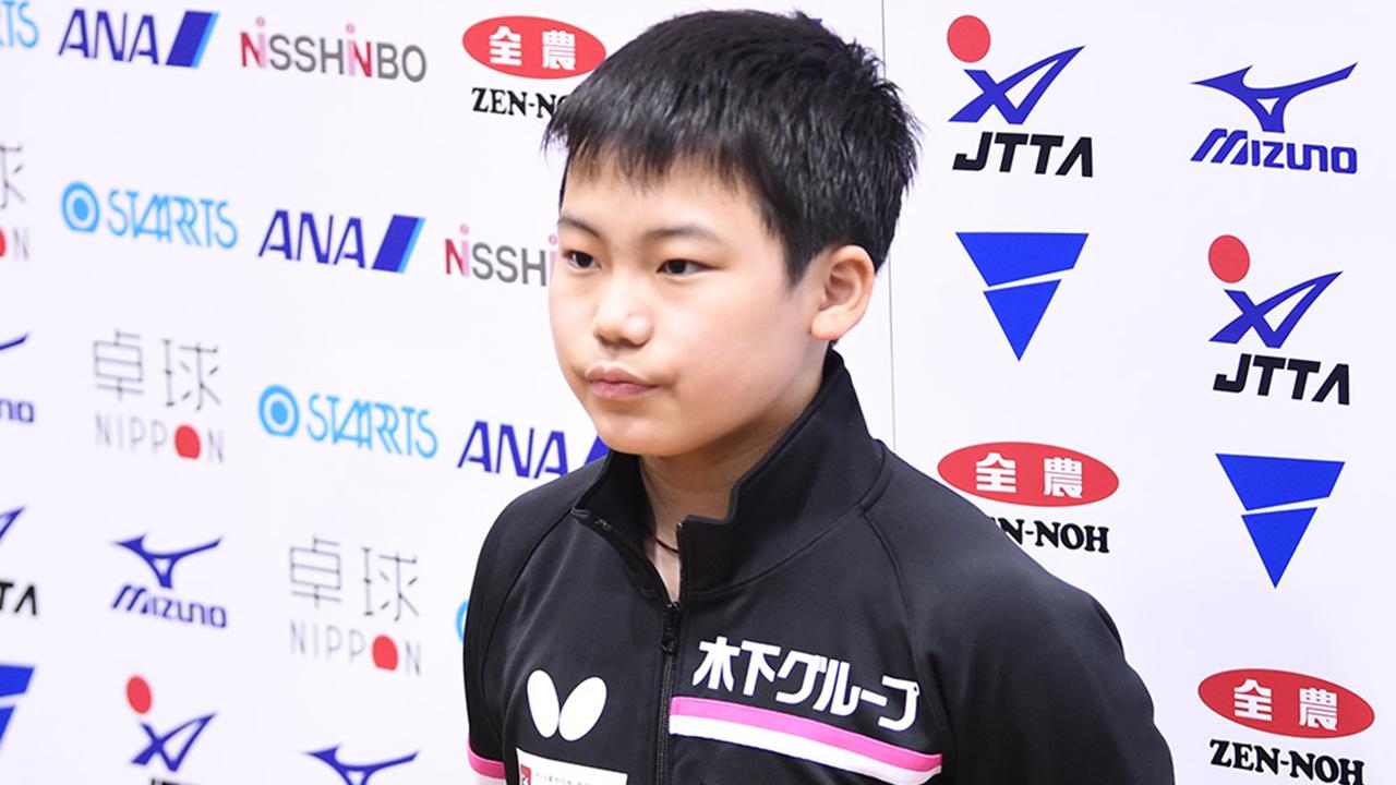 松島輝空 男子1日目インタビュー|アジア卓球選手権ドーハ大会 日本代表選考合宿