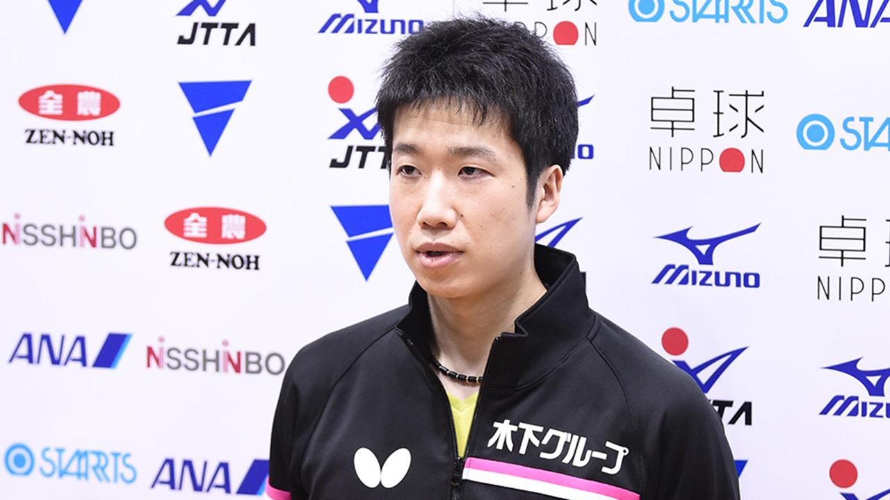 水谷隼「五輪に向けて準備している。状態はいい」男子1日目インタビュー|アジア卓球選手権ドーハ大会 日本代表選考合宿