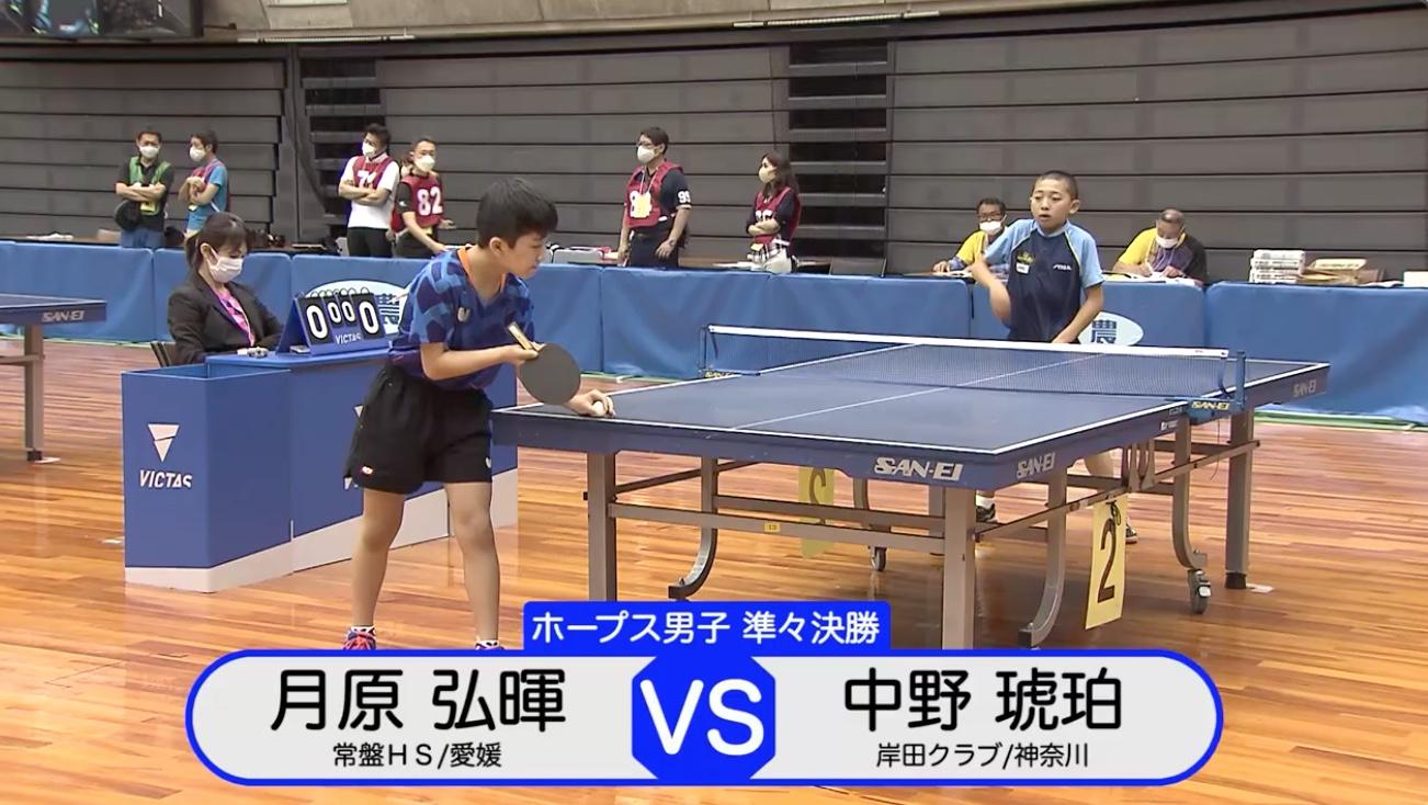 【全農杯2021】ホープス男子準々決勝|月原弘暉 vs 中野琥珀