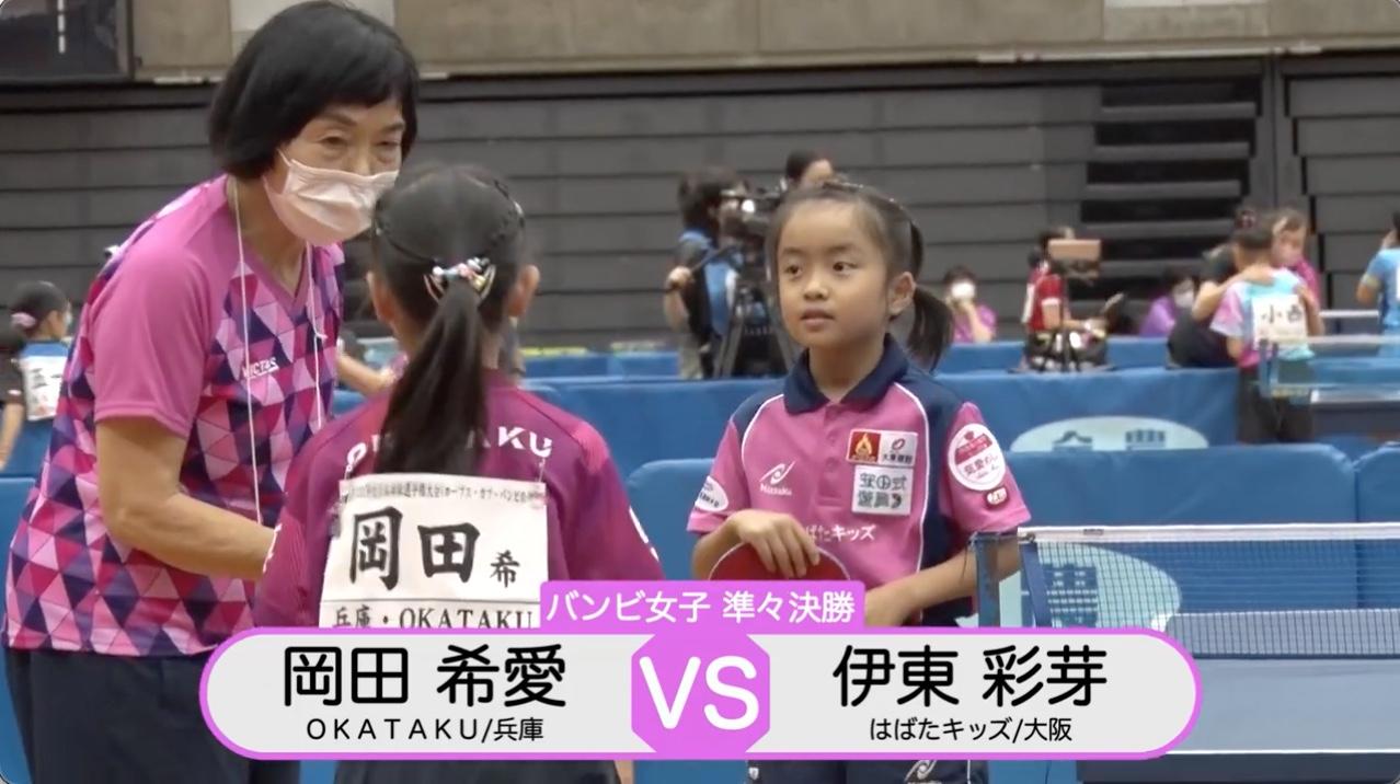 【全農杯2021】バンビ女子準々決勝|岡田希愛 vs 伊東彩芽