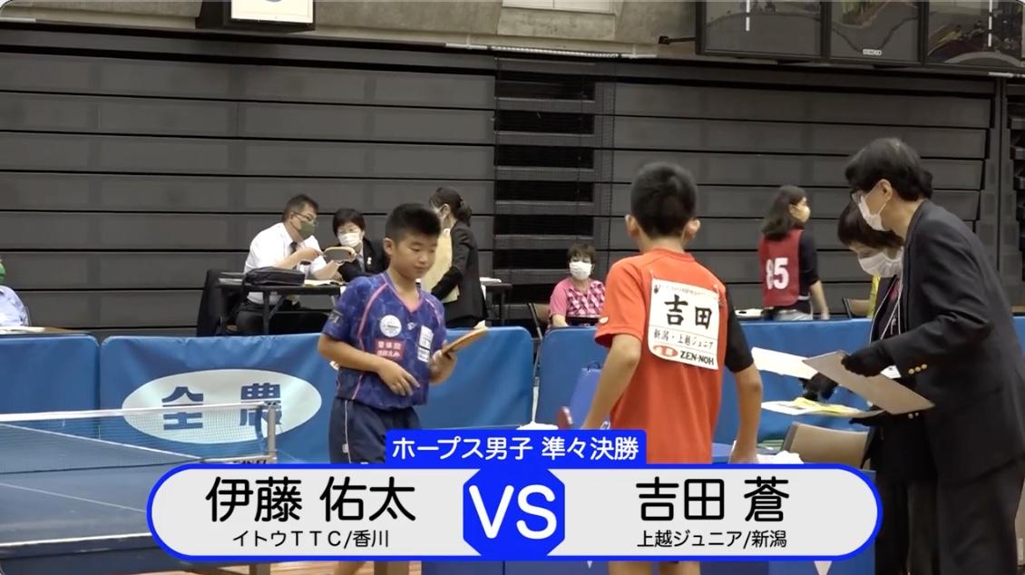 【全農杯2021】ホープス男子準々決勝|伊藤佑太 vs 吉田蒼
