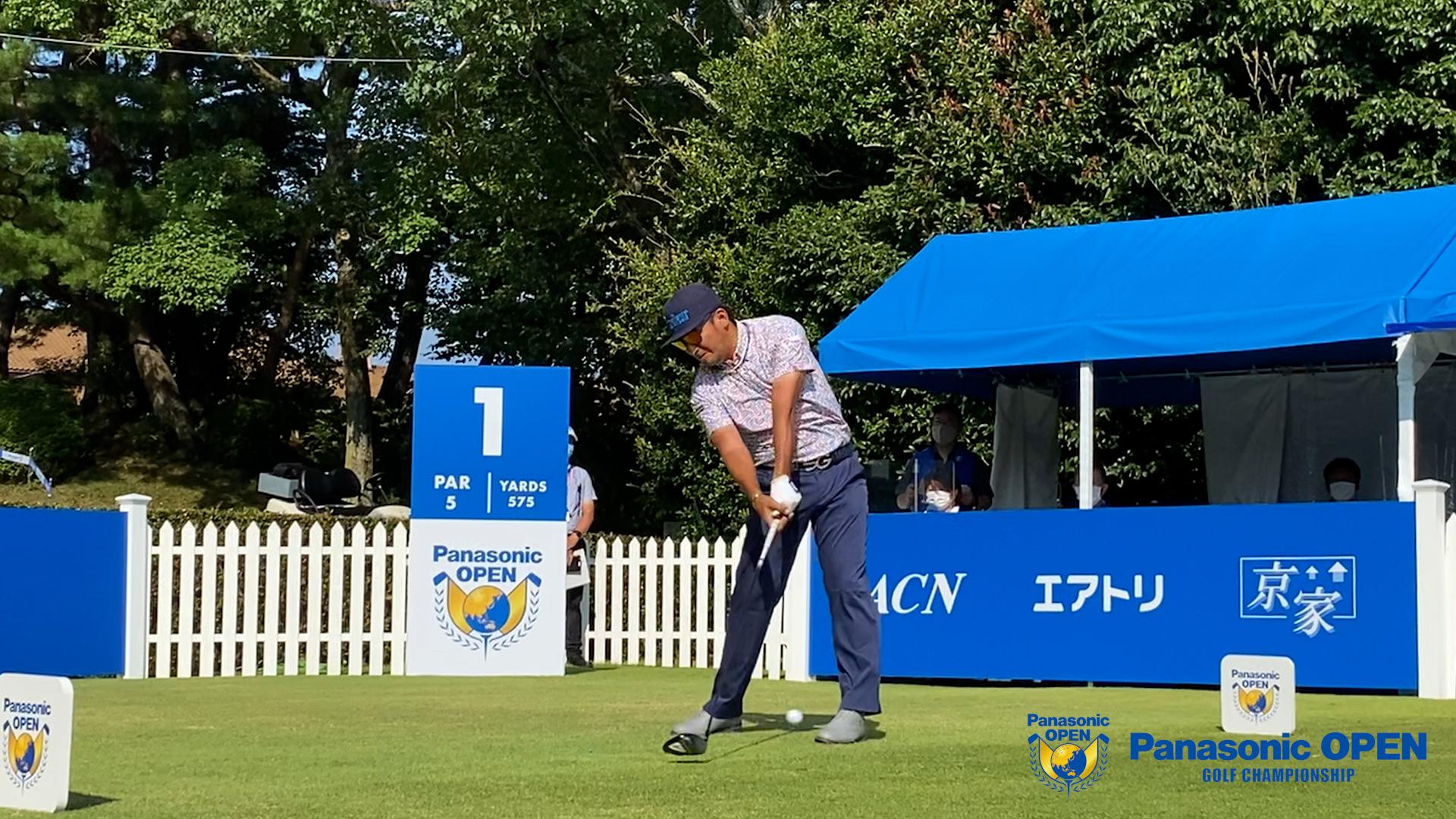 【男子ゴルフ】@河本力、正岡竜二、古川雄大のスタートホールティショット!パナソニックオープン ゴルフチャンピオンシップ 3rd Round