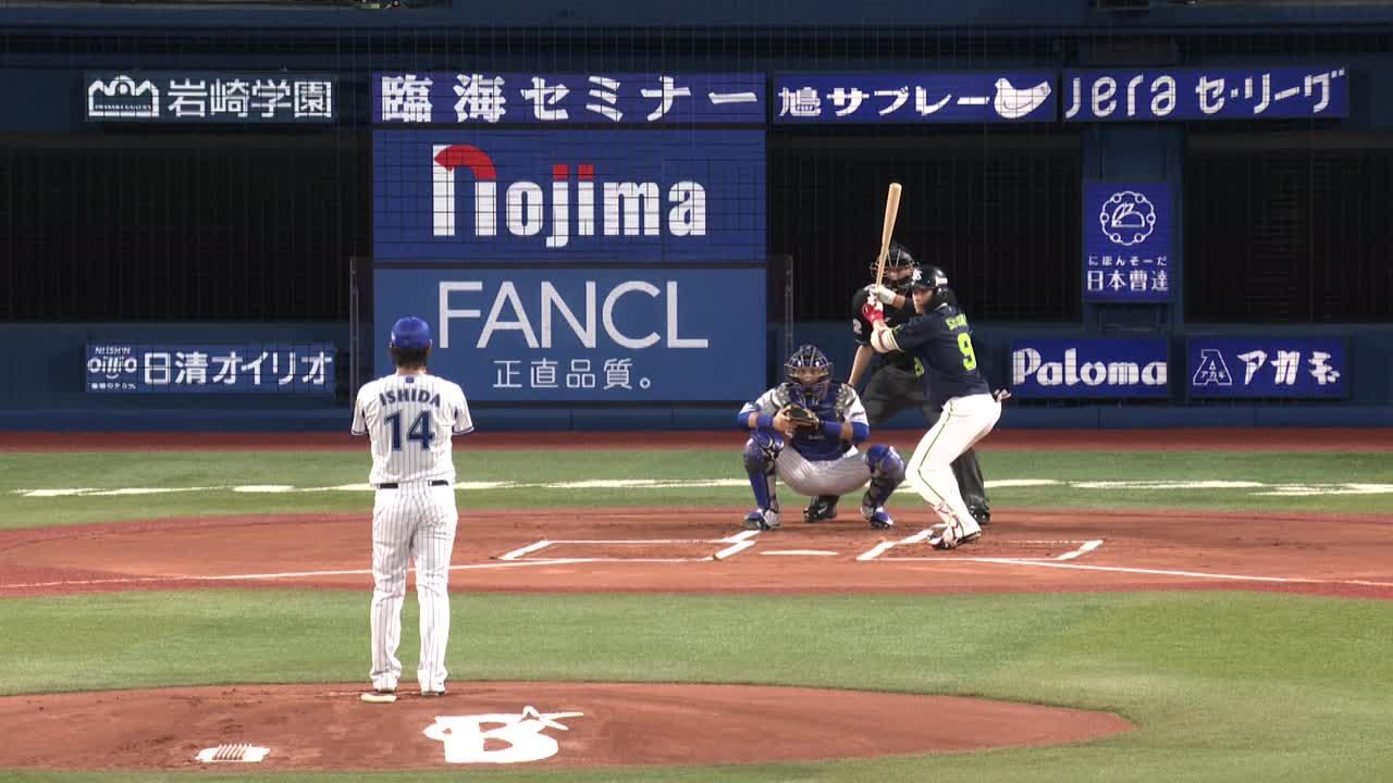 1回表、石田選手が約2年振りの先発登板で三者凡退の好発進!