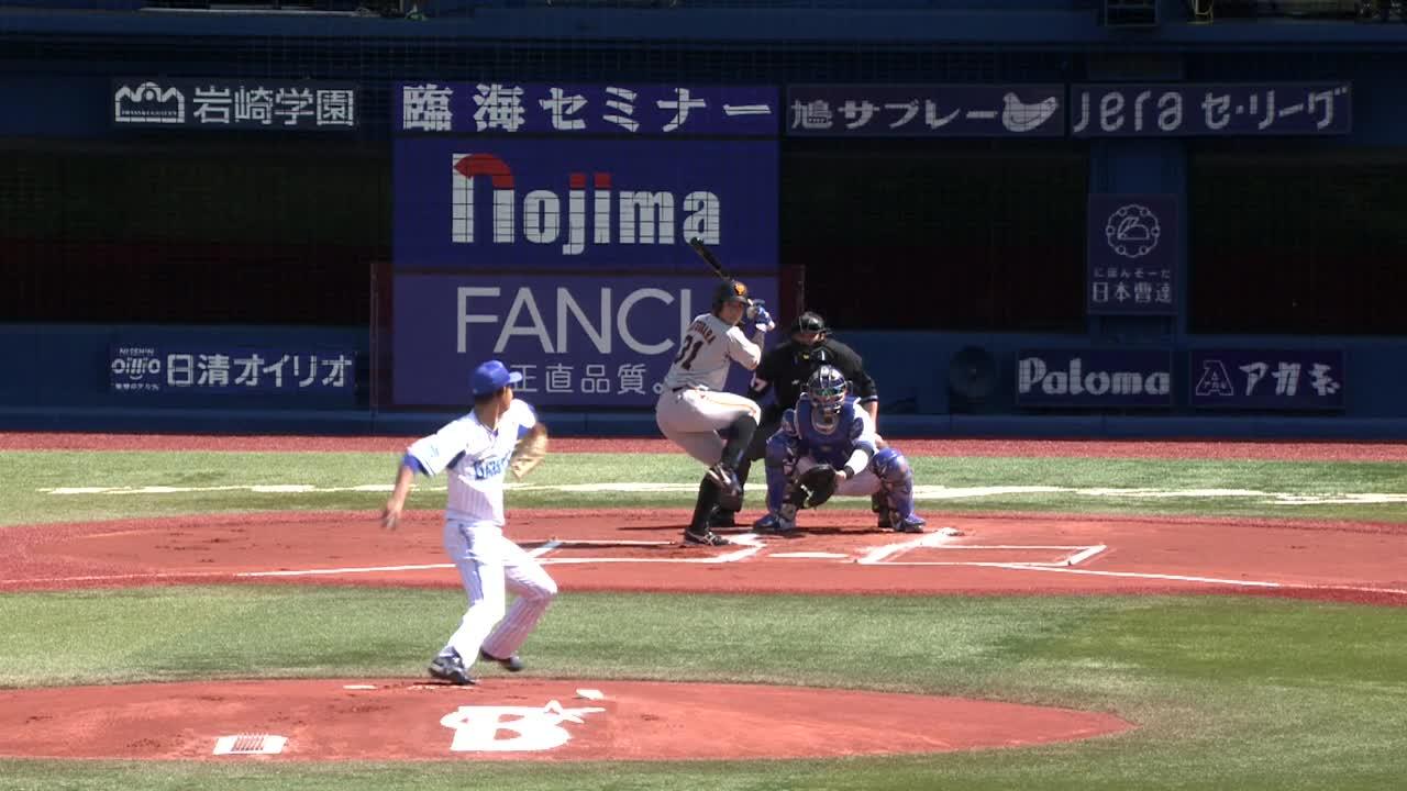 1回表、阪口選手が三者凡退に抑える!