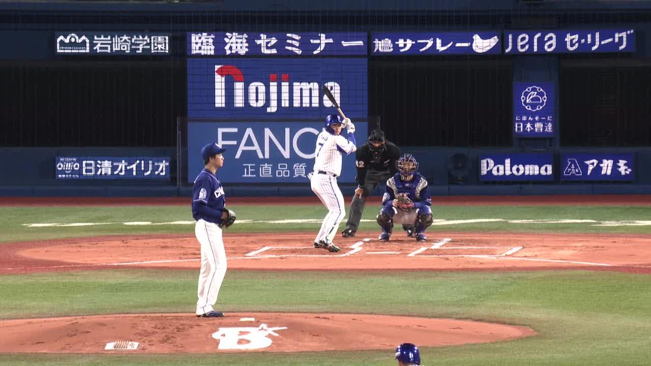 1回裏、主将・佐野選手がタイムリーを放ち1点を追加!