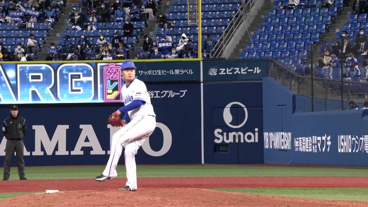 9回表、伊勢選手が三者凡退に抑え最終回の攻撃に望みを繋ぐ!