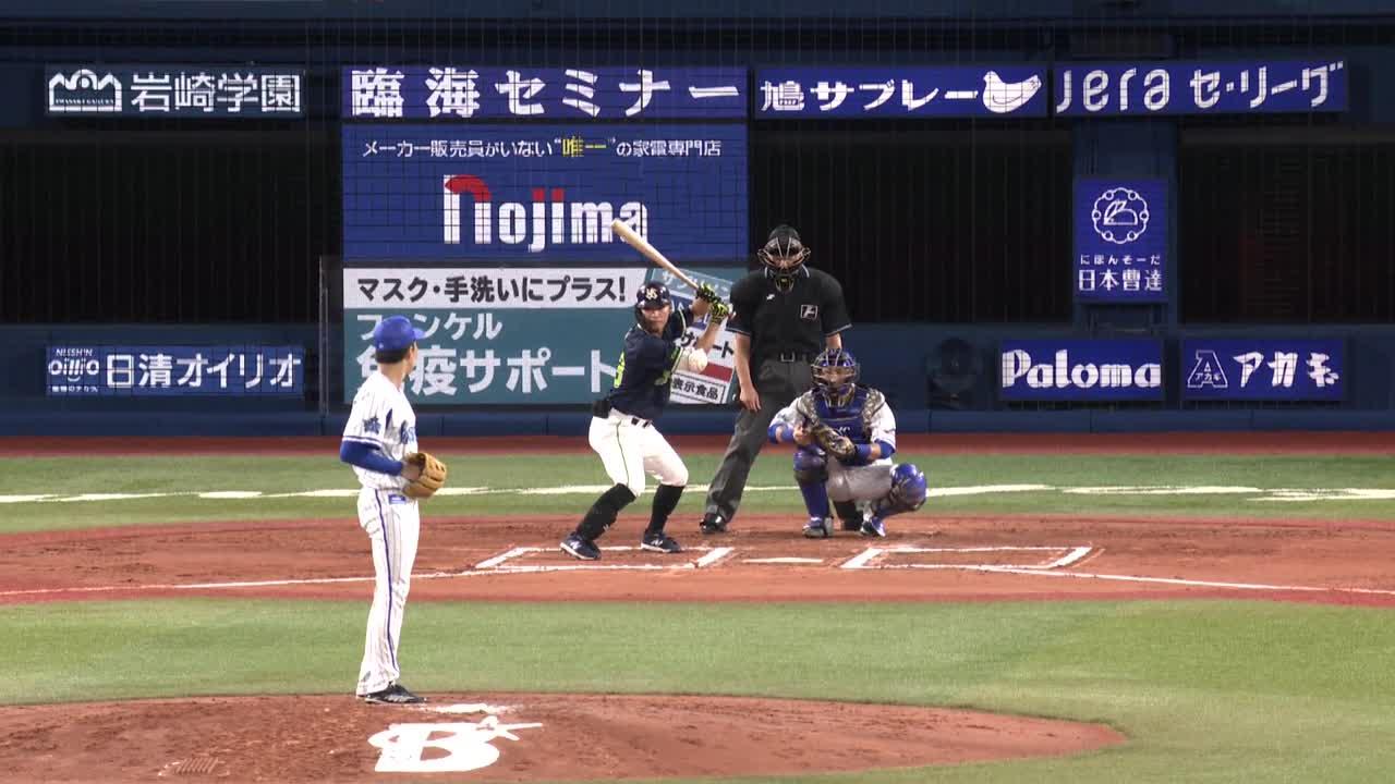 6回表、大貫選手が安定した投球で東京ヤクルト打線を抑える!