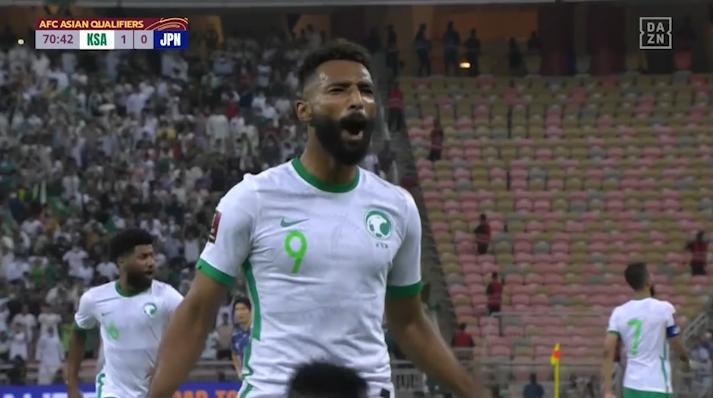 FWアルブレイカンが交代出場直後にゴールを奪う - サウジアラビア 1-0 日本 AFCアジア予選 - Road to Qatar -