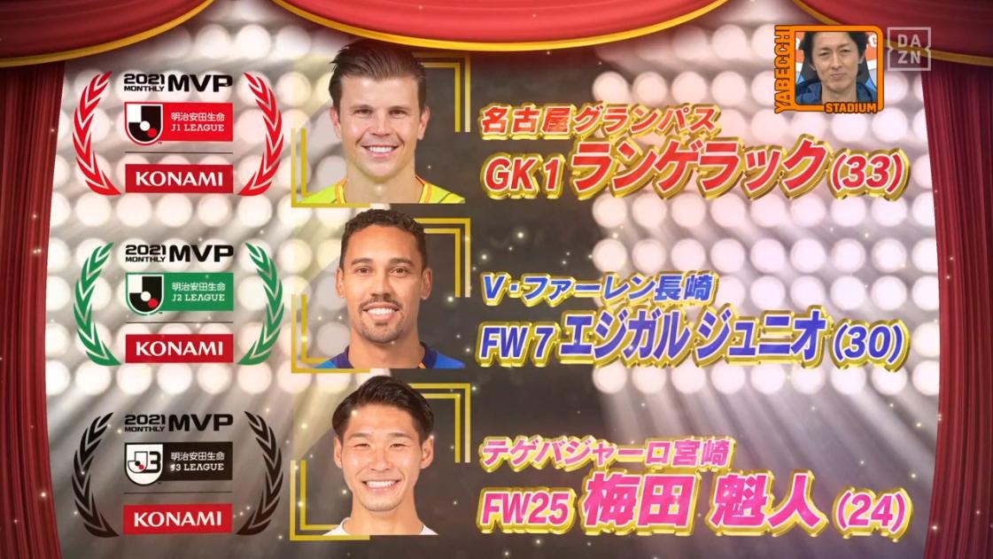 明治安田生命Jリーグ KONAMI月間MVP 9月度選出の選手たちに黒木ひかりが直撃インタビュー
