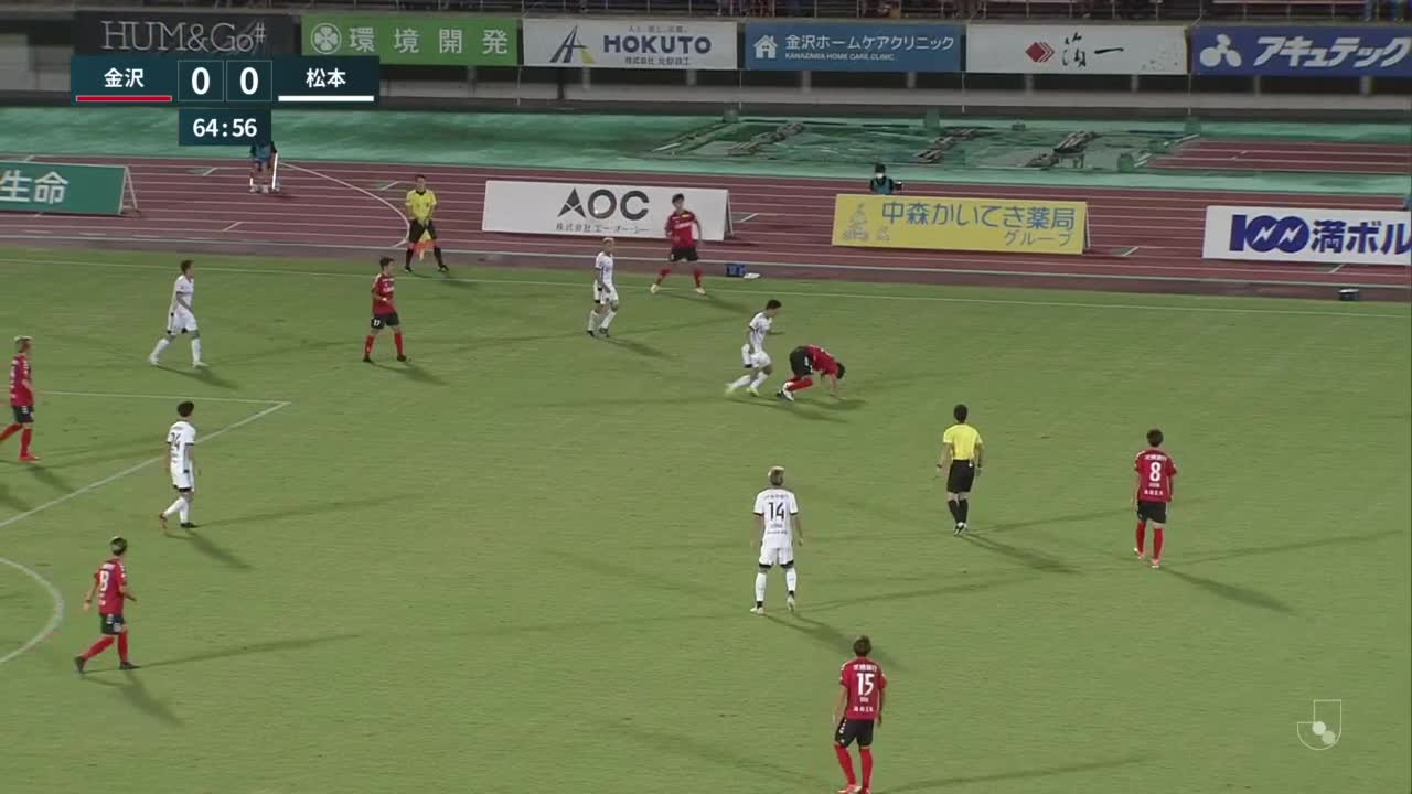 【丹羽詩温】サポーターの想いをのせた先制ゴール「ツエーゲン金沢 vs 松本山雅FC」