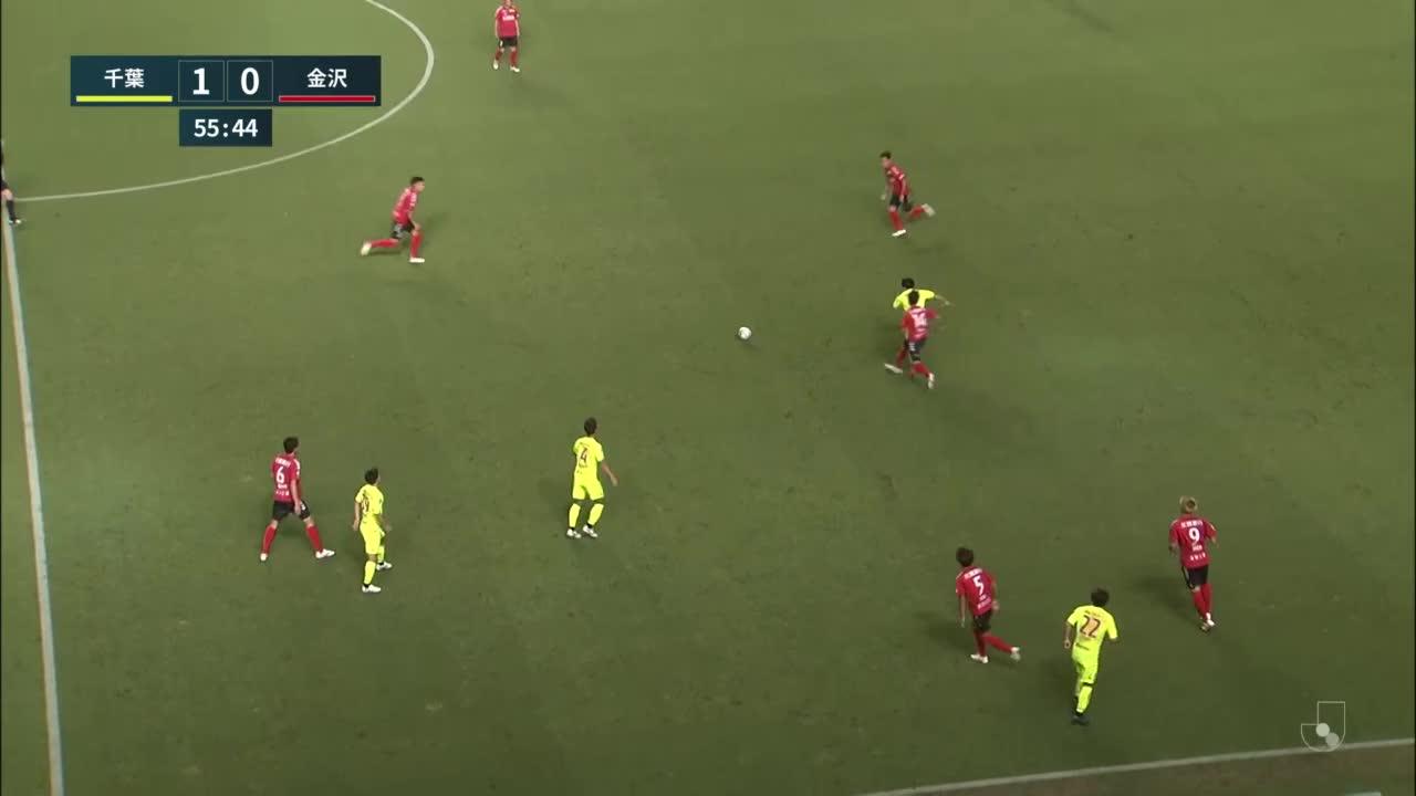 【試合クリップ】こぼれ球を金子昌広がダイレクトでシュートを放つ「ジェフユナイテッド千葉 vs ツエーゲン金沢」