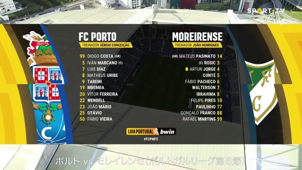 ポルト vs モレイレンセ|ポルトガルリーグ第6節