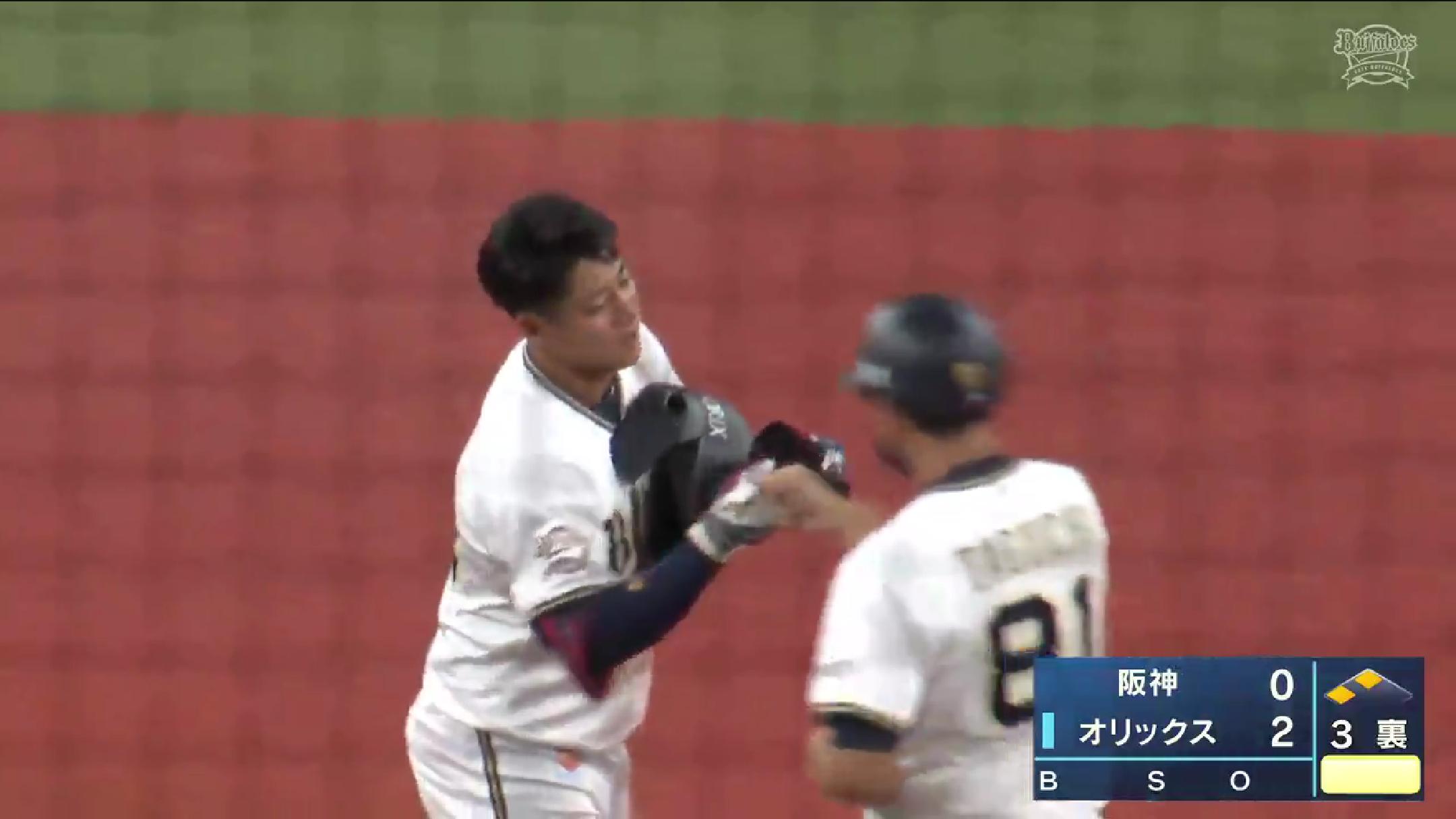 【2021プロ野球エキシビションマッチ】オリックス・来田涼斗選手のタイムリーツーベースヒット!
