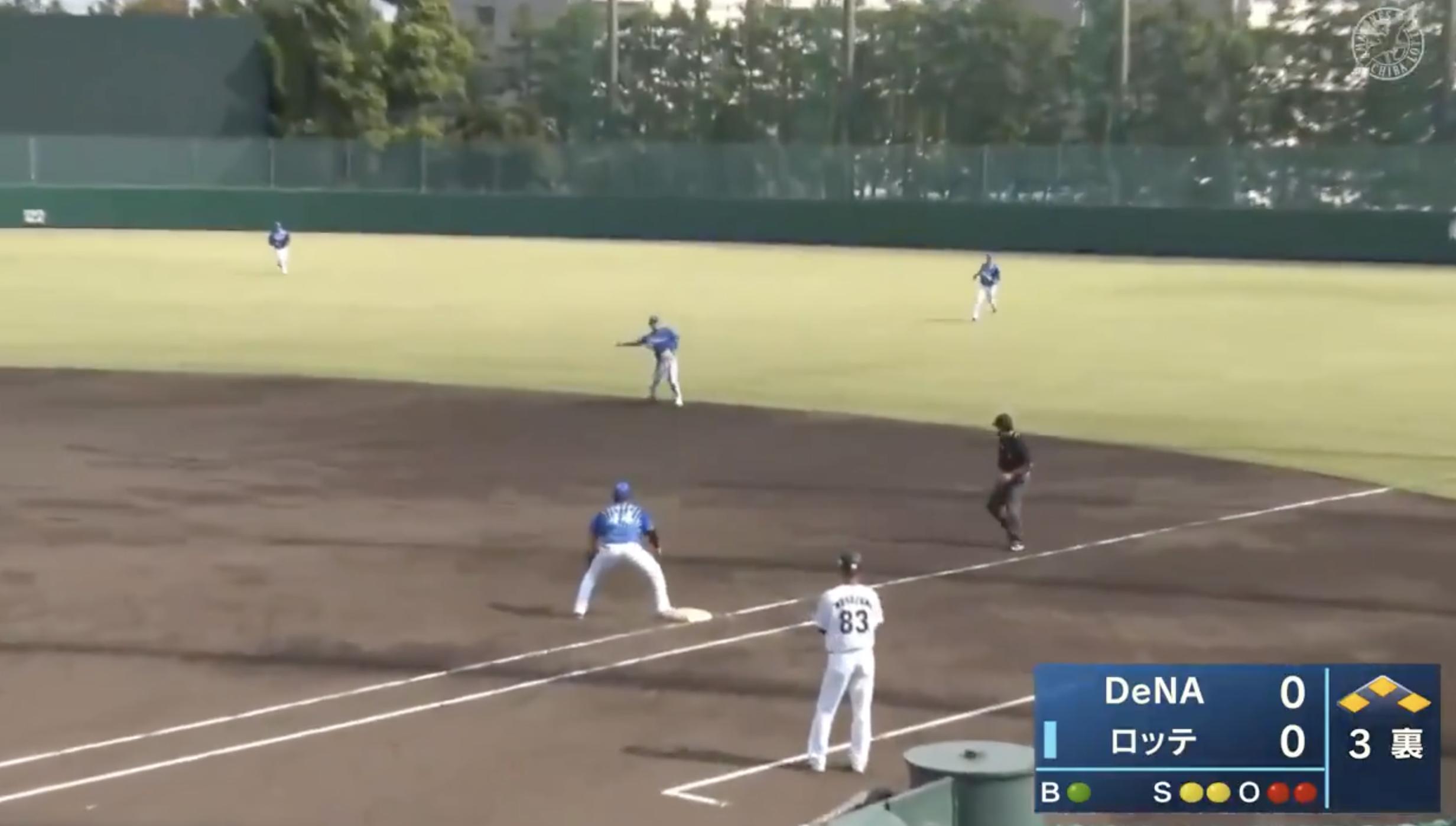 【イースタン・リーグ】DeNA・田中俊太選手、満塁のピンチを救う好プレー!!