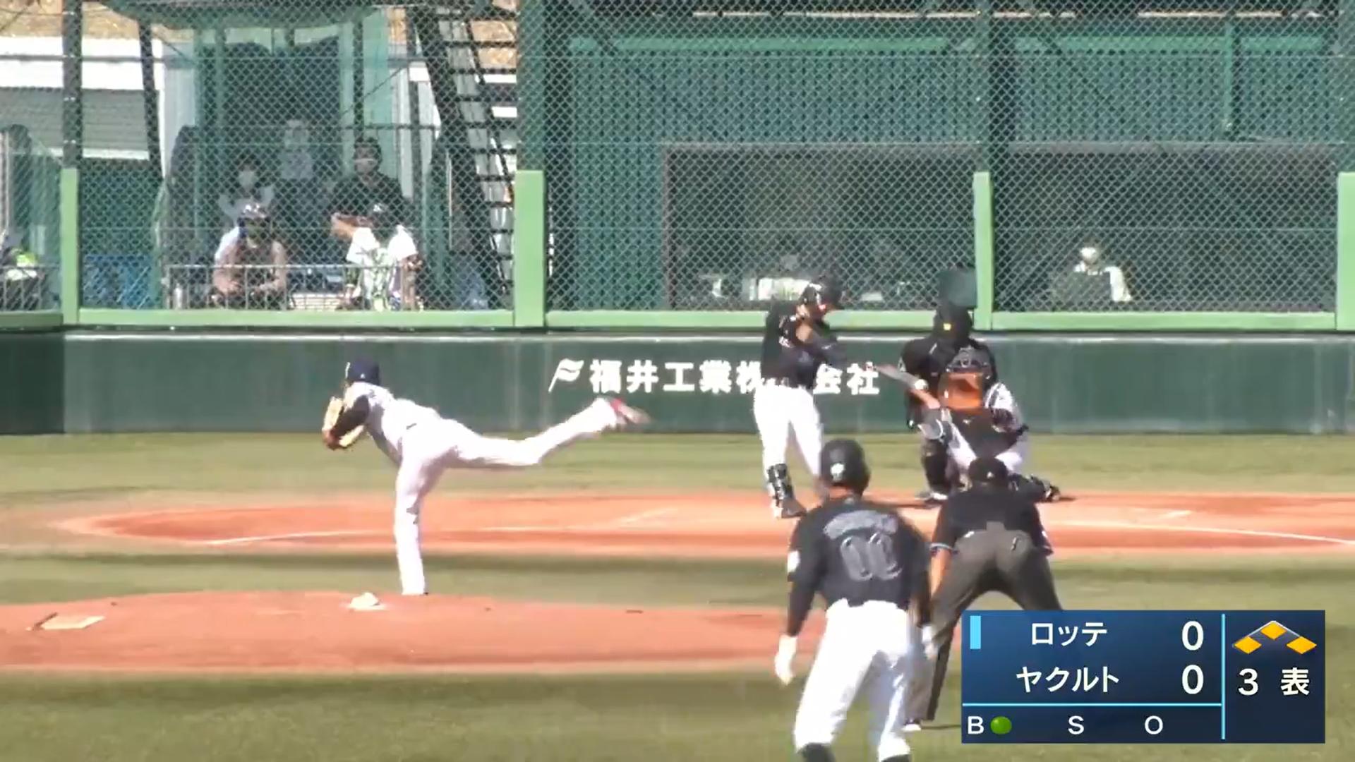 【イースタン・リーグ】ロッテ・菅野剛士選手の先制2点タイムリーヒット!