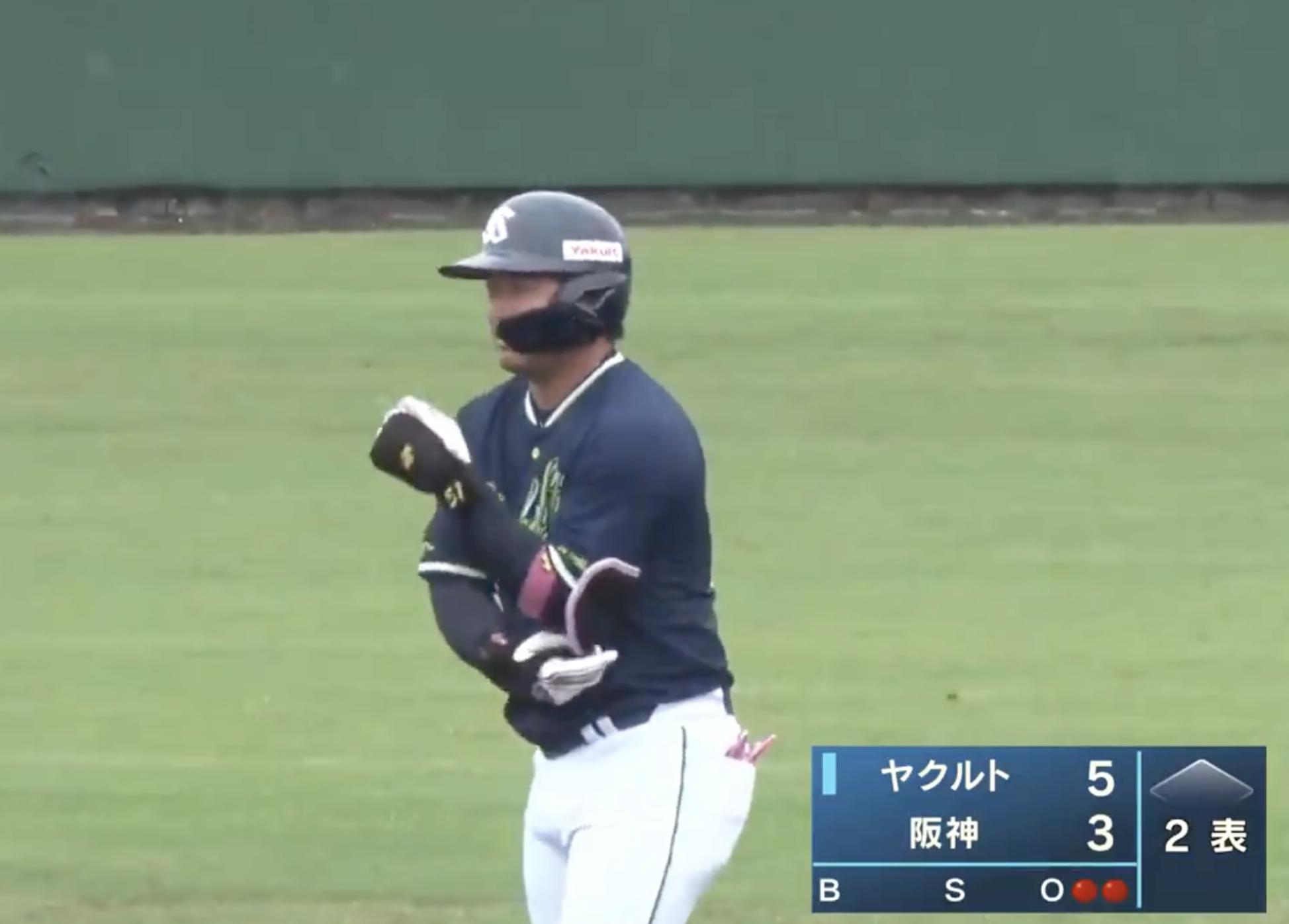 【フェニックス・リーグ】二死満塁から濱田太貴選手が走者一掃の3点タイムリーヒット!ヤクルトがすぐに逆転成功!