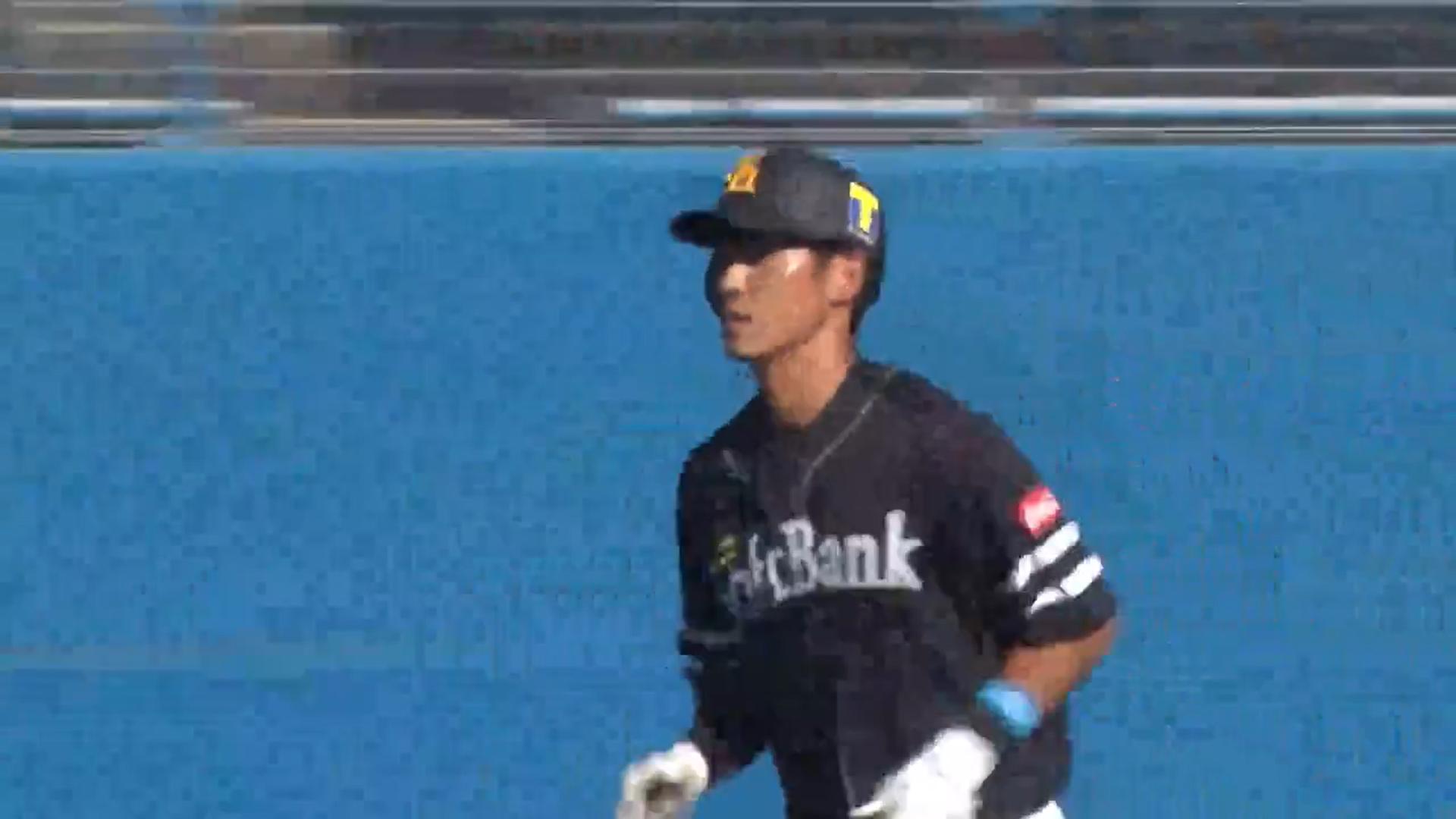 【フェニックス・リーグ】ソフトバンク ・上林誠知 選手が逆転の3ランホームラン!
