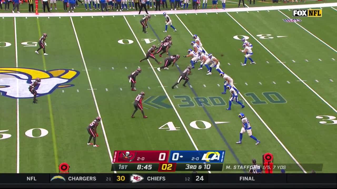 【NFL2021年第3週】開幕3連勝を目指すバッカニアーズとラムズが対戦