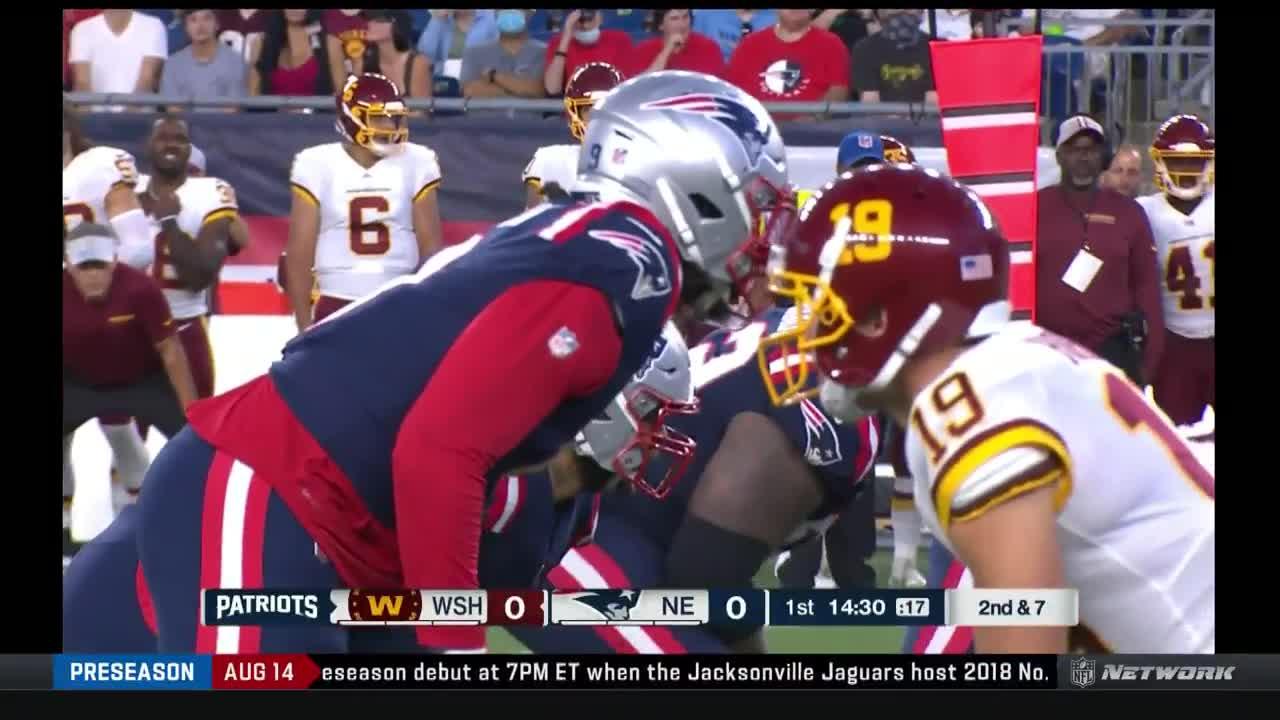 【NFL2021年プレシーズン第1週】ワシントン対ペイトリオッツ