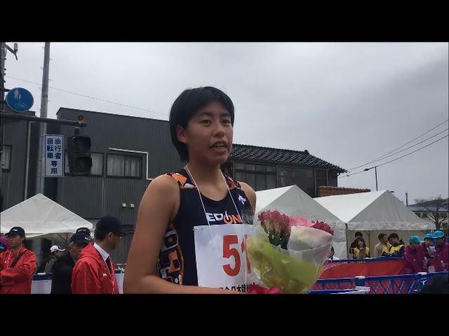 【女子ジュニア10km競歩優勝!】藤井菜々子選手レース直後インタビュー