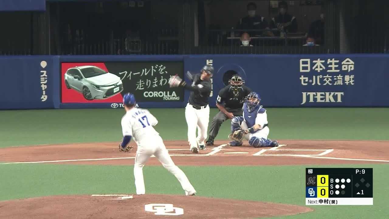 6/1 中日 vs 千葉ロッテ ハイライト
