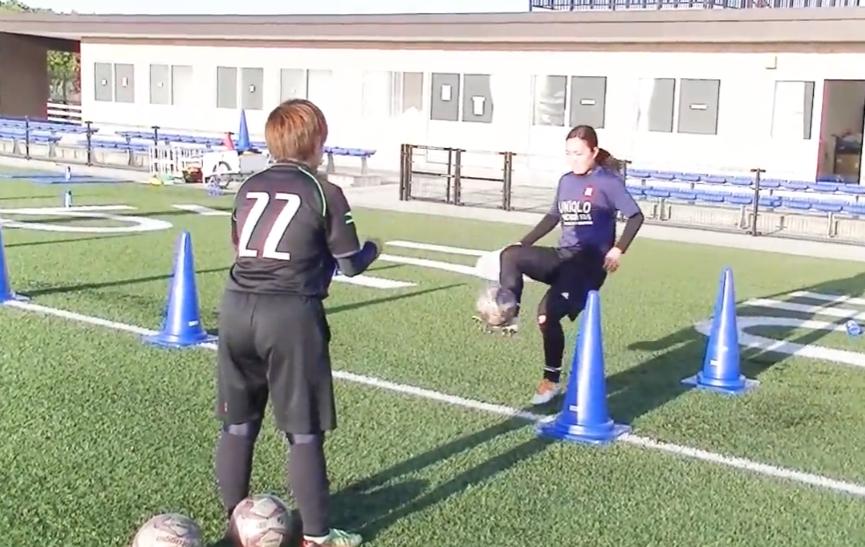 【サッカー練習メニュー】サーキットトレーニング_EX1~2