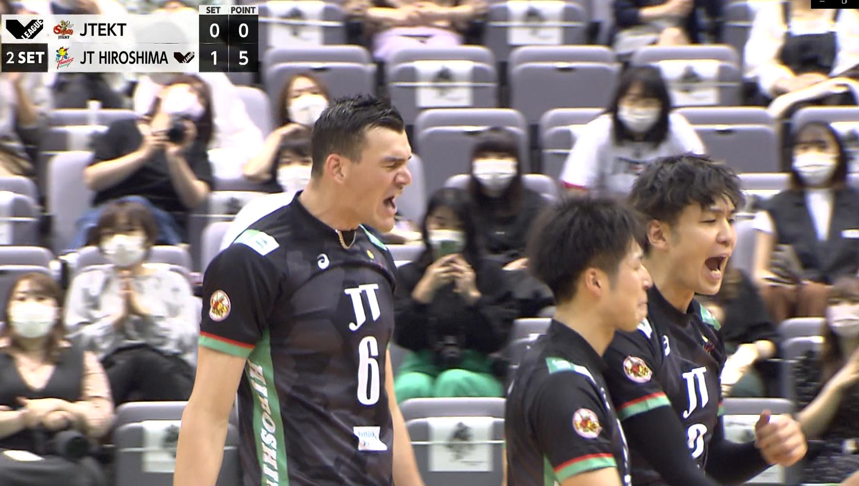 【バレー/Vリーグ】2021/10/15 ハイライト ジェイテクトSTINGS vs JTサンダーズ広島