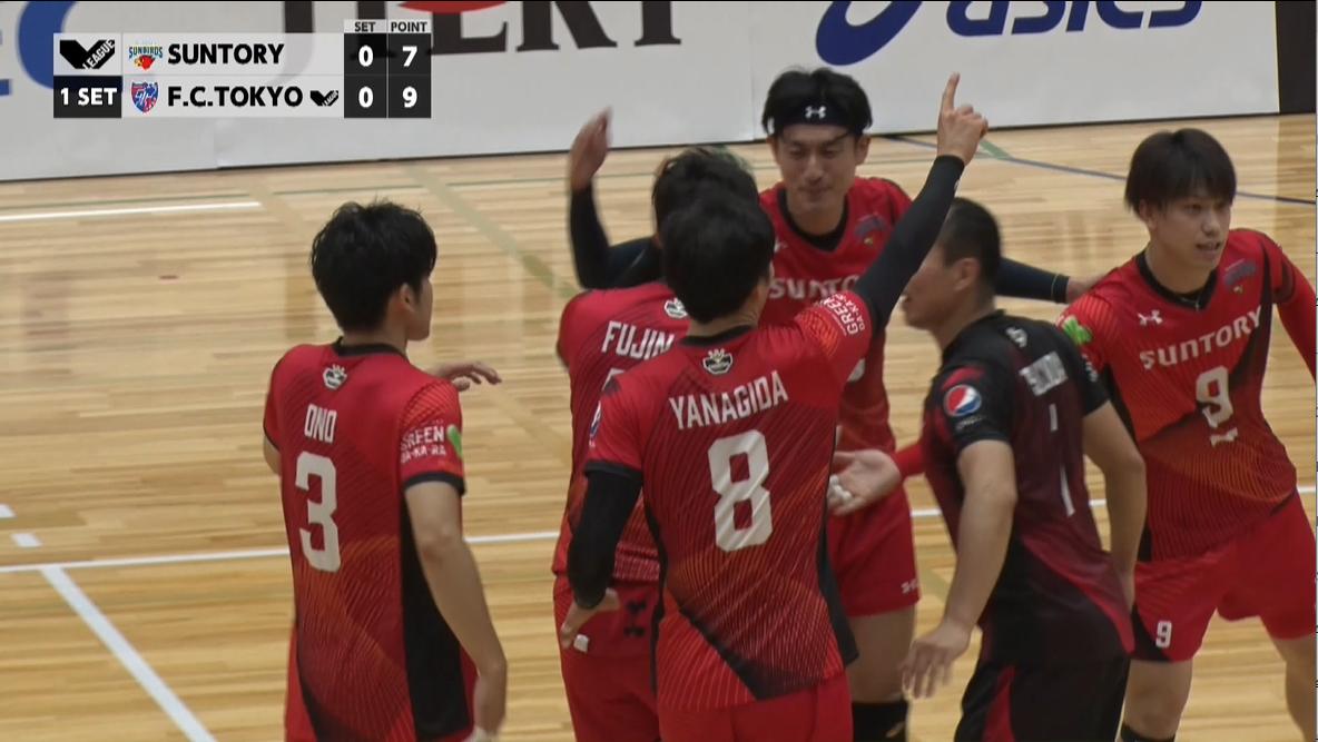【バレー/Vリーグ】2021/10/16 ハイライト サントリーサンバーズ vs FC東京