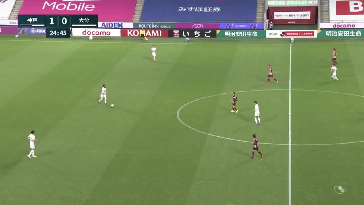 明治安田生命J1リーグ【第8節】神戸vs大分 ダイジェスト