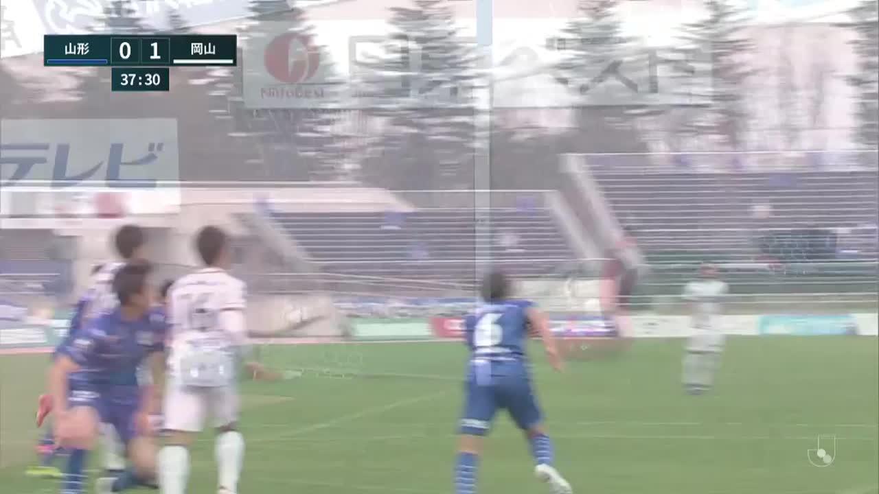 明治安田生命J2リーグ【第5節】山形vs岡山 ダイジェスト