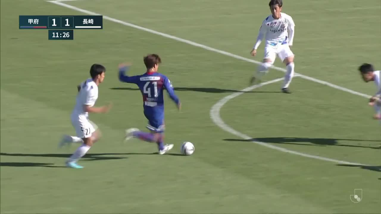 明治安田生命J2リーグ【第35節】甲府vs長崎 ダイジェスト