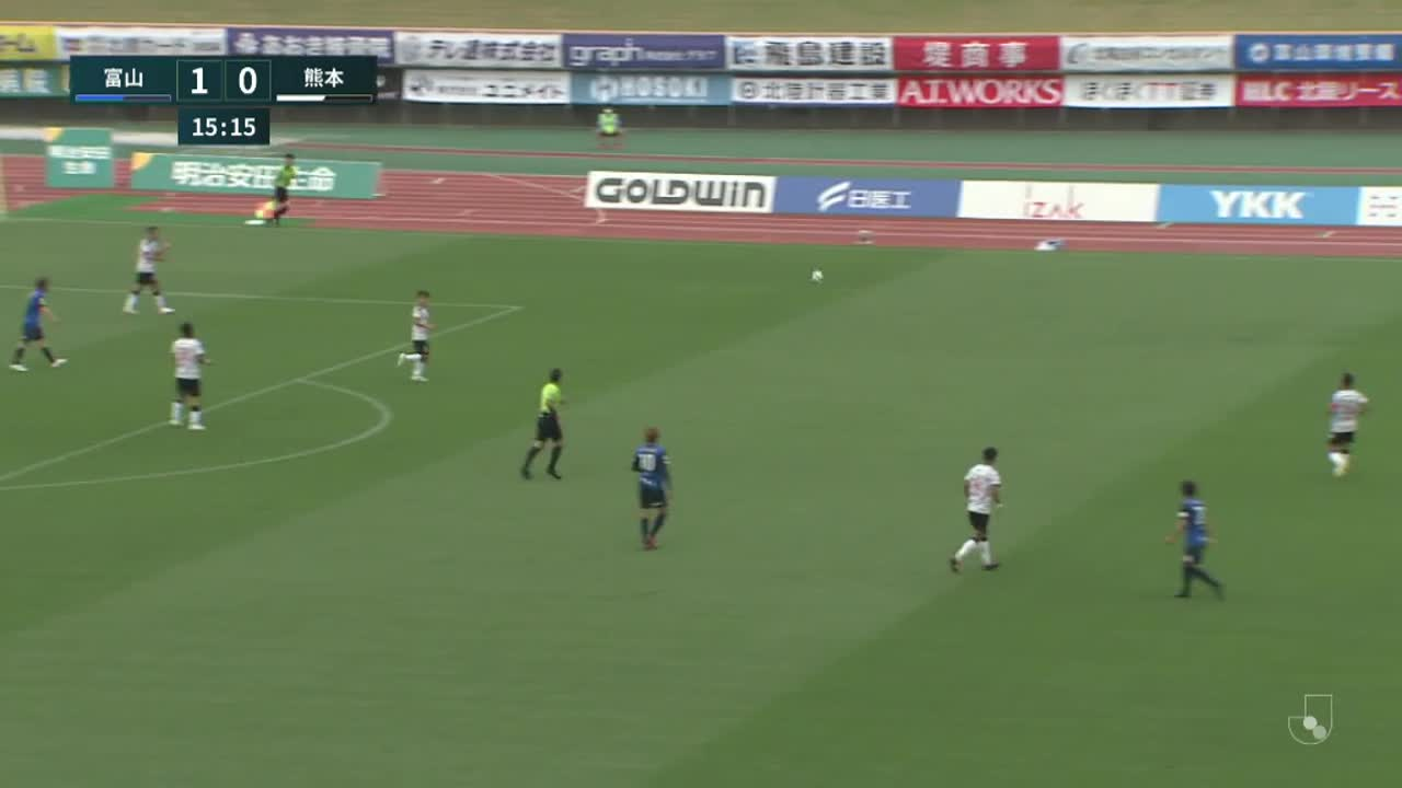 明治安田生命J3リーグ【第11節】富山vs熊本 ダイジェスト