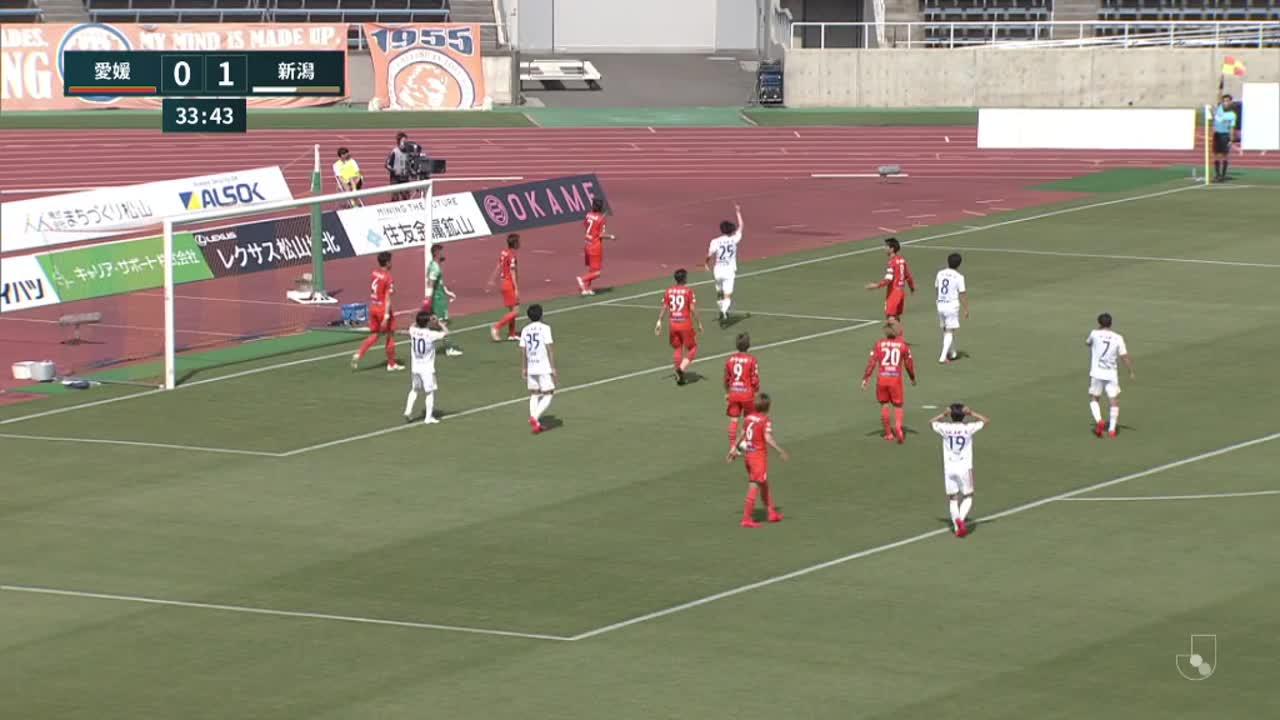 明治安田生命J2リーグ【第10節】愛媛vs新潟 ダイジェスト
