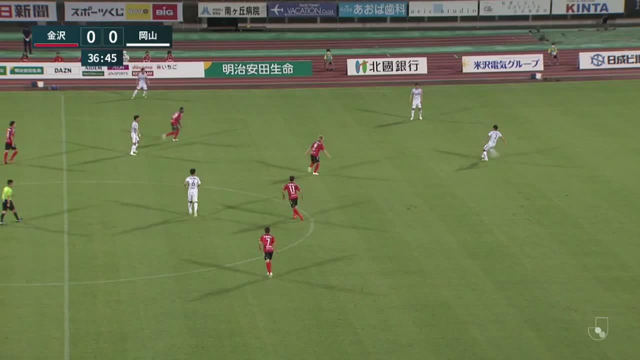 明治安田生命J2リーグ【第22節】金沢vs岡山 ダイジェスト