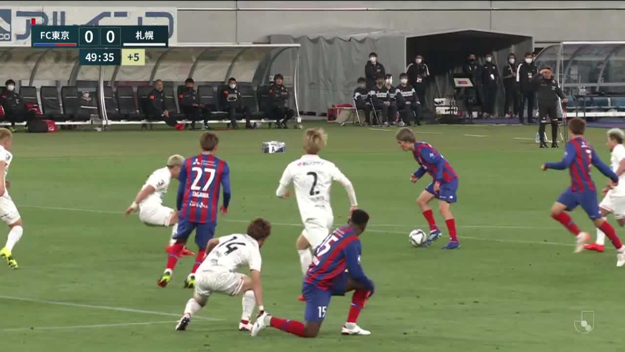 明治安田生命J1リーグ【第8節】FC東京vs札幌 ダイジェスト