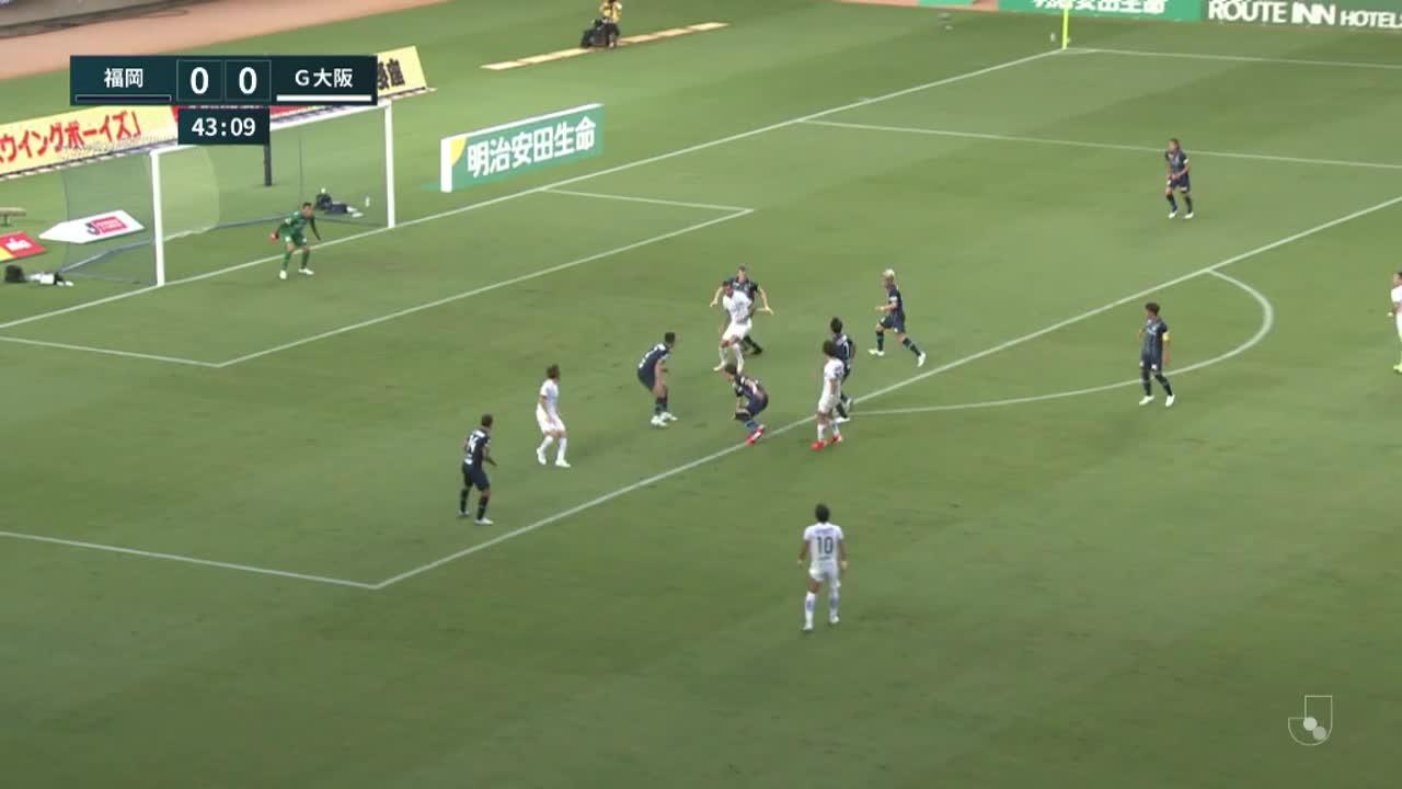 明治安田生命J1リーグ【第21節】福岡vsG大阪 ダイジェスト