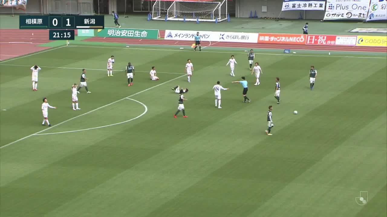 明治安田生命J2リーグ【第6節】相模原vs新潟 ダイジェスト