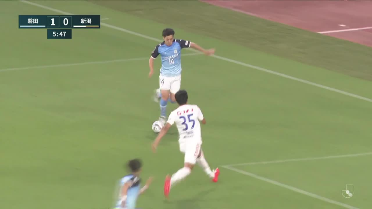 明治安田生命J2リーグ【第21節】磐田vs新潟 ダイジェスト