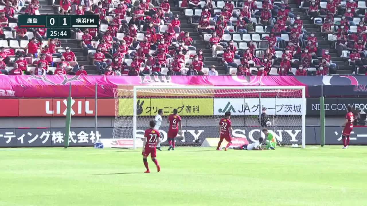 明治安田生命J1リーグ【第14節】鹿島vs横浜FM ダイジェスト