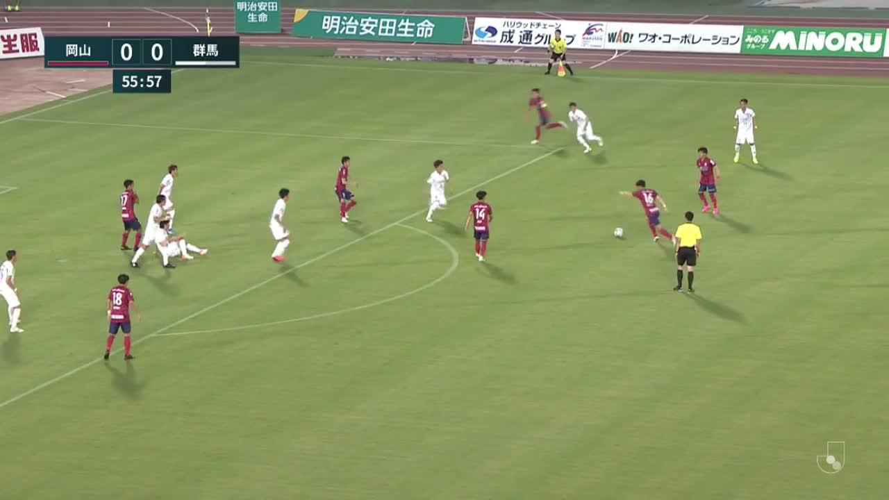 明治安田生命J2リーグ【第23節】岡山vs群馬 ダイジェスト